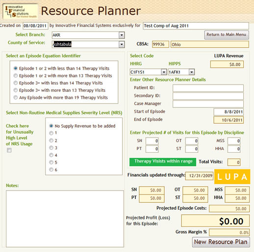 The Home Health Care Resource Planner